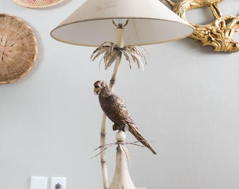 Vintage Parrot Table Lamp