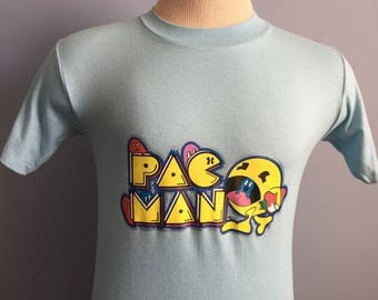 80s Vintage Pac-Man Midway video game T-Shirt - SMALL