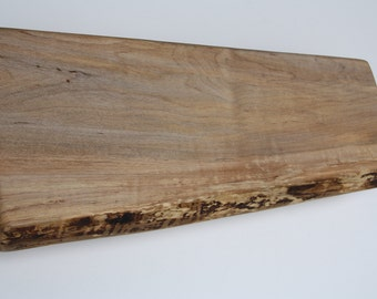 Footed Maple- 5th Anniversary Gift- Organic Edge Cutting Board- Live Edge Handcrafted Wood - Personalized Kitchen Gift 751