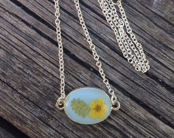 boho jewelry ideas, summer jewelry, best friend gift, birthday gift, botanical jewelry, summer gift jewelry, blue necklace, dried flower