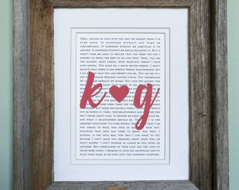 1st Anniversary Gift | 1st Anniversary Gift  for Husband | 1st Anniversary Gift for Her | Barnwood Framed Vows or Lyrics