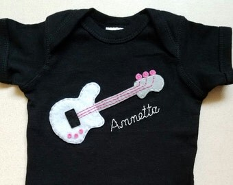 Bass Baby, Guitar Baby, Musician Infant One Piece