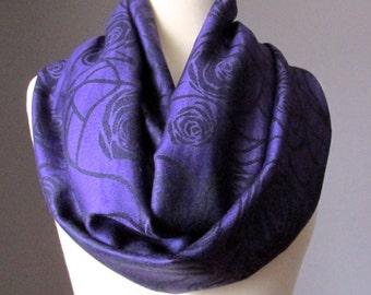 Deep purple scarf, eggplant scarf, rose infinity scarf, plum scarf,  pashmina infinity scarf, pashmina scarf