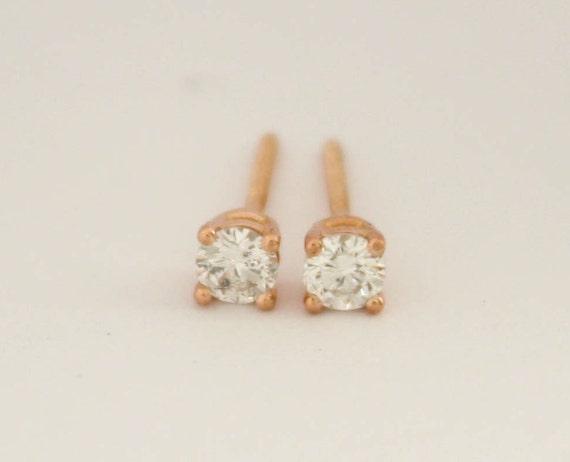 0.25 Carat Diamond 14K White Gold Stud Earrings