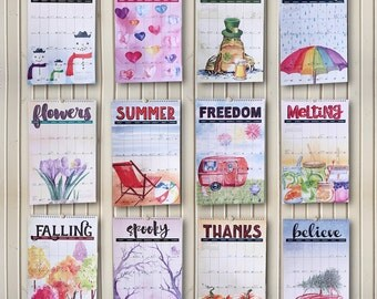 2017 Watercolor Wall Calendar wall large 11x17 featuring