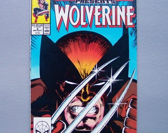 Vintage 1988 Wolverine Number 2 Very Good Condition Marvel Comics Presents Issue