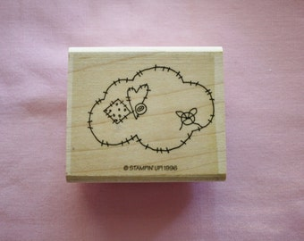 Applique Cloud Stamp / Rubber Stamp/Stampin Up 1996