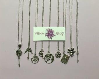 Spiritual Charm Necklaces - Symbolic, Witchy, Pagan, Goddess