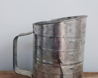 Antique Metal Measuring Sifter