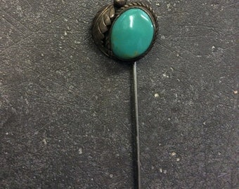 Navajo Sterling Silver and Turquoise Stickpin