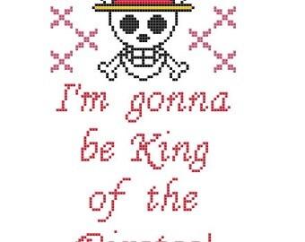 PDF PATTERN I'm gonna be King of the Pirates cross stitch