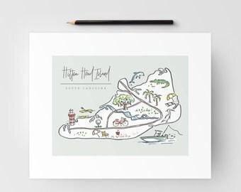 Hilton Head Island Map Print