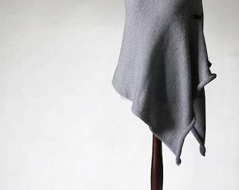 RESERVED! Alpaca poncho, chunky poncho, pullover sweater, womens poncho, knit poncho, gray poncho, womens sweater, knit sweater