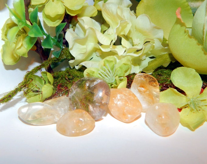 CITRINE, QUARTZ or SMOKY Quartz tumbled natural gemstone - hand-picked single or discout set - Reiki Wicca Pagan Energy-work Tool