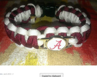 Alabama Paracord Bracelet
