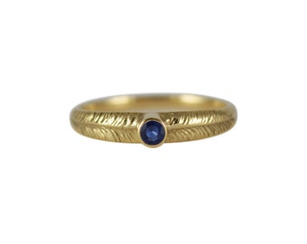 Blue Sapphire Palm Ring, Sapphire Ring, September Birthstone Ring, Gemstone Ring, Sapphire Leaf Ring, Stackable Ring, Rings with Stones