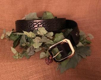 Black Hand Made Leather Belt