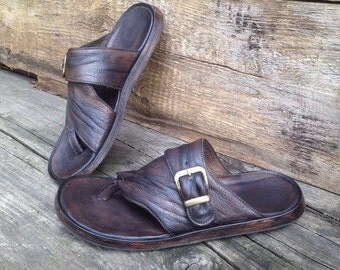 Leather flipflops AL