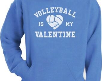 Volleyball is My Valentine - Men's Hoodie