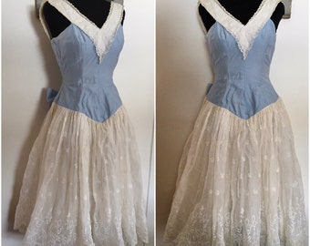 1950s Taffy's of California Party Dress