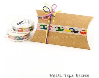 """mt """"Rings"""" Japanese Washi Tape - Paper Chain Garland - Mina Perhonen design - 15mm x 10m -  Party Decorations Planners Gift wrap Card making"""