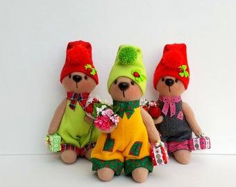 BEAR TOY. Plush Bear. Stuffed Bear Toy. Ooak Bear. Teddy Bear. Stuffed Bear. Cute Cuddly Bear. Plush Toy. Birthday etc. gift. Bear Gift (3)