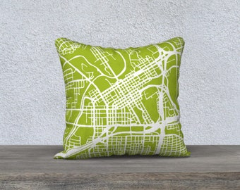 Fort Worth Map Pillow Cover