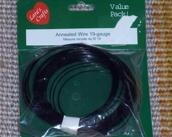 50 ft of Annealed wire,19-gauge,Black,Lara's Crafts,Value Pack,floral arranging,jewelry making,crafts