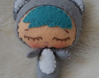 Binky Boo Hand-Stitched Felt Kitten Doll