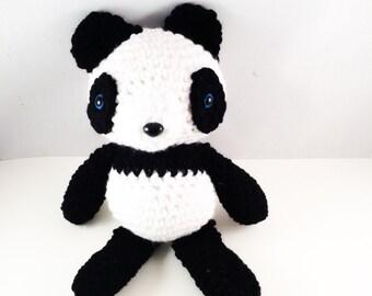 Crochet Amigurumi Panda Bear Stuffed Animal Plushie Toy