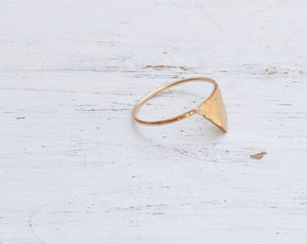 Triangle Ring,Minimalist Rings,Dainty Ring,Geometric Jewelry,Triangle delicate Hammered Ring in Sterling Silver or Gold Filled