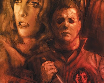 11x17 Luster Art Print Michael Myers Halloween Movie Style Poster (Signed by Barry Sachs)