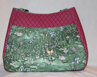 Butterflies and Lily Pads - Swoon Ethel Handbag Purse