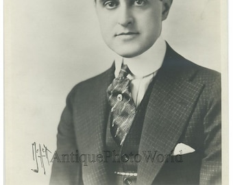 Silent film actor Taylor Holmes antique photo