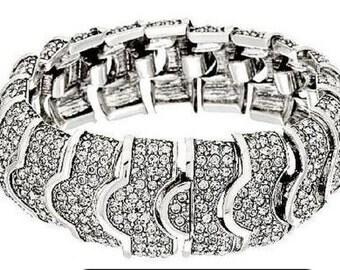 Ciner for Joan Rivers Bracelet - Rhinestone Bracelet in Silver Tone - S2017