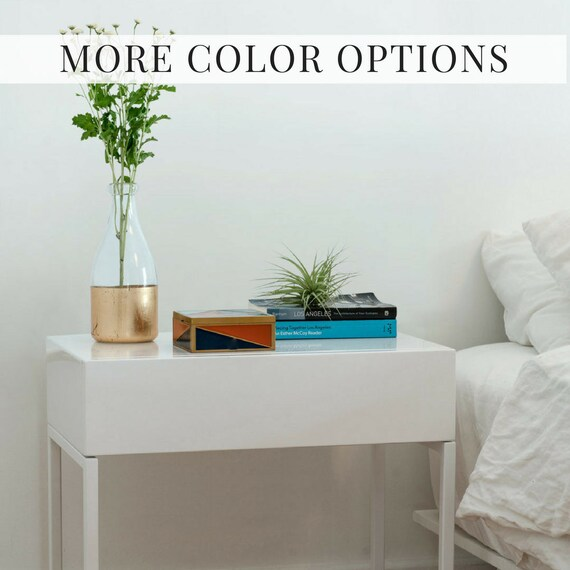 Modern White Nightstand Bedside Table Tag