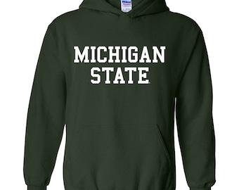 Michigan State Spartans Basic Block Hoodie