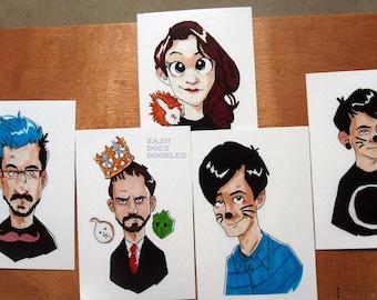 Youtuber prints - Dan and Phil, Markiplier, Ashens, Zoella - Youtube