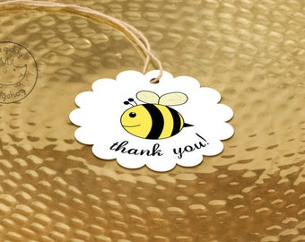 40+ Baby Bee Party Favor Tags, Bee Day, Bee Thank You Labels, Bee Birthday, Neutral Baby Shower, Bumble Bee Party, Bee Baby Shower Tags