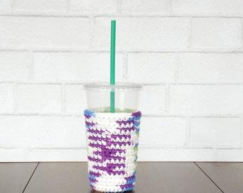 Iced Coffee Sleeve - Staff Appreciation Gifts - Crochet Coffee Sleeve - Frozen Coffee Sleeve - Reusable Coffee Sleeve - Cold Coffee Sleeve