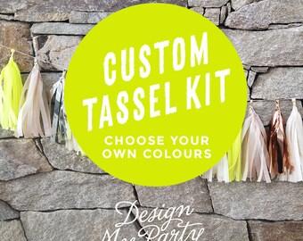Custom Balloon Tassel Garland Kit - Choose your colours