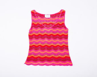 Oscar De La Renta Colorful Knit Blouse