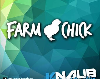 Farm Chick Chicken Vinyl Decal Sticker Farmer Rooster Pig Goat Country Home Decor Kitchen Decoration 4H Club