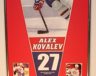 Montreal Canadians Alex Kovalev Pennant & Cards...Custom Framed!