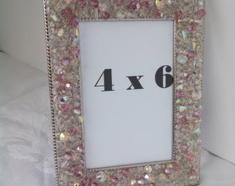 Pink Rock Crystal Custom 4 x 6 Frame