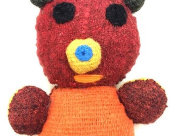 Felted Wool Bear - Organic Toy Handcrafted Chiapas, Mexico (004P)
