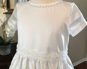 "SALE....First Communion Dress ""Julia""  Size 8 ONLY.  Was 160.00 now 140.00"