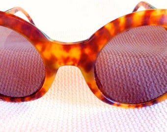 Vintage Giorgio Armani Round Tortoise Shell 919 Sunglasses Made In Italy