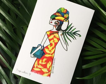 Fashion Sketches. Serie Tropicalism 01
