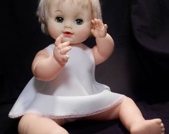 "EFFANBEE Baby Doll 19©65 2500L 16"" (White Dress/Panties)"